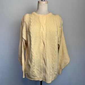 Vintage Sweaters - Vintage Open Cable Knit Oversized Sweater